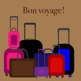 Flat design illustration baggage. Handbag suitcase. Stock Photo
