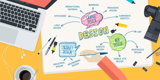 Flat design illustration concept for design Stock Photography