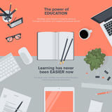 Flat design illustration concept for education Stock Image