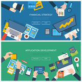 Flat design illustration concepts for business Royalty Free Stock Photos