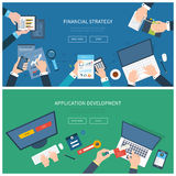 Flat design illustration concepts for business Royalty Free Stock Images