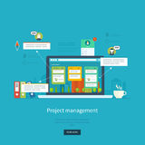 Flat design illustration concepts for business. Analysis and planning, consulting, team work, project management and development. Concepts web banner and Stock Photo