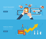 Flat design illustration concepts for business Royalty Free Stock Photo