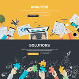 Flat design illustration concepts for business. Analysis, strategy and planning, finance, consulting, management, team work, project management, brainstorming royalty free illustration