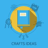 Flat design illustration of crafts ideas Stock Photos