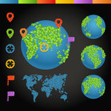 Flat design illustration of the Earth Stock Image
