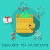 Flat design illustration of handicraft Stock Photo
