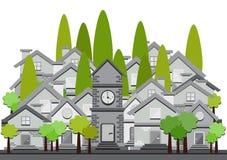 Free Flat Design Illustration Of Houses Royalty Free Stock Image - 60376026