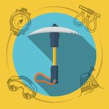 Flat design illustration for rock climbing. Ice Stock Images
