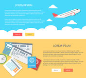 Flat design illustration vacation and tourism. Concepts web banner Royalty Free Stock Images