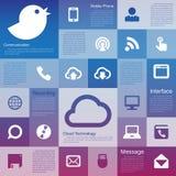 Flat design interface icon set Royalty Free Stock Photos