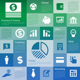 Flat design interface icon set Stock Image