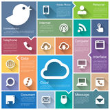 Flat design interface icon set Stock Photography