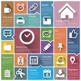 Flat design interface icon set. 6  .Illustration eps10 Stock Image