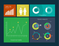 Flat Design Interface Template Concept with Royalty Free Stock Image