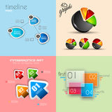 Flat Design Interface template for infographics Stock Images