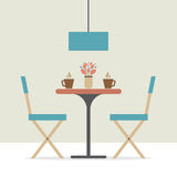 Flat Design Interior Dining Room Stock Images