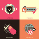 Flat design for internet security concepts Stock Photography
