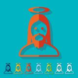 Flat design. jesus. Jesus icon in flat design with long shadows. Vector illustration Stock Photography