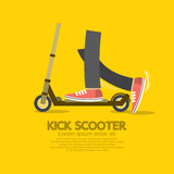 Flat Design Kick Scooter Stock Photo