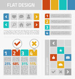 Flat design kit Royalty Free Stock Photos