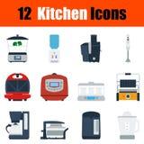 Flat design kitchen icon set Royalty Free Stock Photo