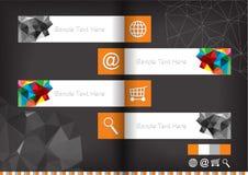 Flat design labels Stock Photo