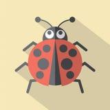 Flat Design Ladybug Icon Royalty Free Stock Photography