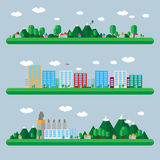 Flat design landscape illustration Royalty Free Stock Photo