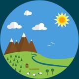 Flat design landscape Royalty Free Stock Photography