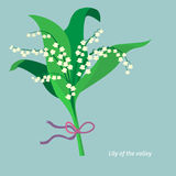 Flat design. Lily of the valley. Vector Stock Photography