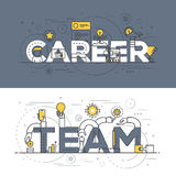 Flat design line concept banner - Career and Team Stock Photos