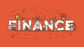 Flat design line concept -Finance Royalty Free Stock Photos