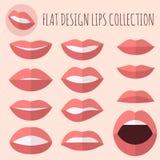 Flat Design Lips Stock Photo