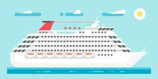 Flat design luxury cruise Royalty Free Stock Images