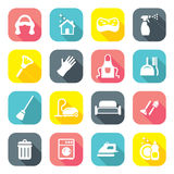 Flat Design Maid Icons Royalty Free Stock Image