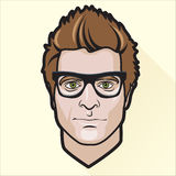 Flat design man's portrait Royalty Free Stock Photography