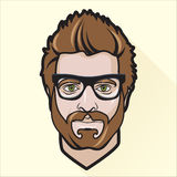 Flat design man's portrait. Vector Illustration of Flat design man's portrait Stock Image
