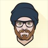 Flat design man's portrait. Vector Illustration of Flat design man's portrait Royalty Free Stock Photo