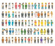 Flat design many professions set. Illustration vector Stock Photography