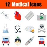 Flat design medical icon set Stock Photo
