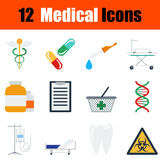 Flat design medical icon set Royalty Free Stock Photography