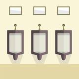 Flat Design Men's Urinal Row Stock Image