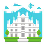 Flat design Milano Duomo Stock Image