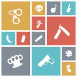 Flat design miscellaneous icons Stock Image