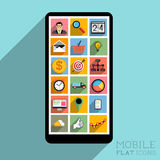 Flat Design Mobile Royalty Free Stock Photography