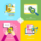Flat design for mobile service and web marketing Stock Photo