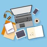 Flat design mockup per office workspace Stock Photos