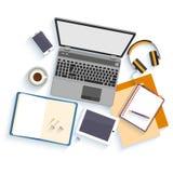 Flat design mockup per office workspace Stock Photo