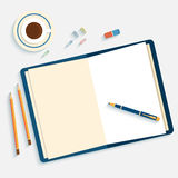Flat design mockup per office workspace Royalty Free Stock Photography